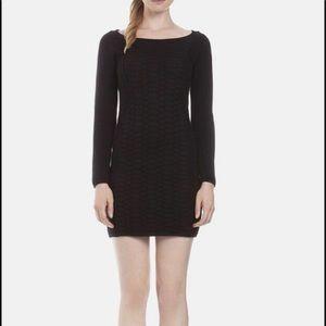 SANDRO Snakeskin Print Rhea Knit Sweater Dress